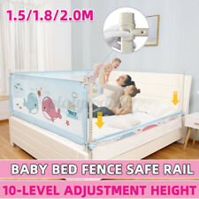 Baby Bed Fence Safety Gate Barrier Crib Rail Children Playpen Guardrail Securi