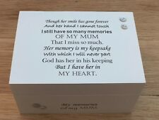 Shabby Personalised Chic In Memory Of A Loved One Keepsake Box MUM Dad Nan Etc