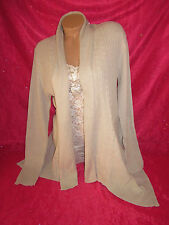 White House Black Market Sweater Cardigan Asymmetric Coverup Size XL Gray NEW