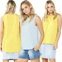 Tank Top by BETTY BASICS Sizes 10 - 18 Capri Tee T Shirt Pastel Blue Yellow