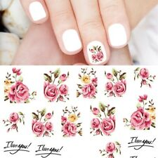 Nagelsticker Nail Sticker Fingernägel Tattoo Rose Nageldesign Schmuck Blume S403