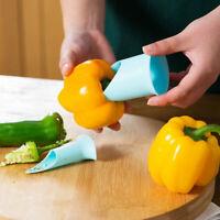 Neu Kunststoff Küche Werkzeug Peeler Cutter Chili Helper Set H1M8