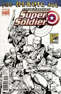 STEVE ROGERS: SUPER SOLDIER #1 Color & SDCC Exclusive Sketch Variant Set NM.