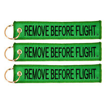3 Pack Remove Before Flight Key Chain Green aviation truck motorcycle pilot