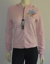 Ed Hardy Surf Christian Audigier Women's Hoody Flower in Pink L/S Large NWT