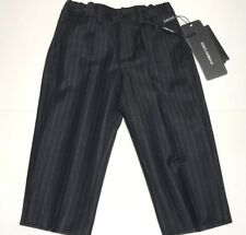 D&G NEW Boys Baby WOOL PINSTRIPE CLASSIC DRESS PANTS Sz: 9-12m RTL: $215 P856