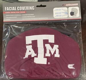 NCAA Texas A&M Logo Face Covering 2-Pack New Adult Colosseum Brand New In Pack