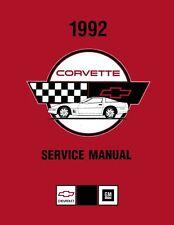 1992 Corvette Shop Service Repair Manual Book Engine Drivetrain Electrical Body