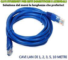 Cavi Ethernet LAN RJ-45 8P8C e connettore pressofuso da 1 - 2 - 3 - 5 - 10 Metri