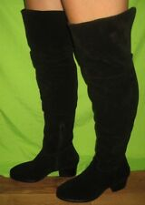 Dune Ladies 'TANGENT' Over The Knee Slouchy Boots Black Size 5 / 38  RRP £140