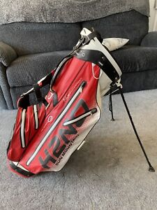 Sun Mountain H2NO 14 Way Stand Bag, Red/black/white, Great Used Condition.