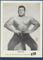 """YUKON ERIC 1950's  WRESTLING DOW PICTURE 8-1/4"""" X 11""""  32272"""