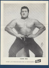 "YUKON ERIC 1950's  WRESTLING DOW PICTURE 8-1/4"" X 11""  32272"