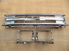 TOYOTA HILUX PICKUP 1989-91 2WD FULLY CHROME GRILLE LIGHT CASE with CLIPS