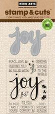 Joy Hero Arts Christmas Clear Stamp & Cut Thin Metal Die Set DC169 NEW!