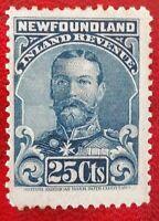 NEWFOUNDLAND 1910 NFR18a Perf 11 George V Inland Revenue Stamp Canada