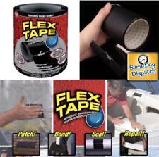 """STRONG WATERPROOF FLEX TAPE BLACK WHITE 8"""" x 5' Rubberized Seal Stop Leaks Tape"""