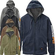 Timberland PRO Sweatshirt Men Logo Hooded Fleece Zipper Sweater Water Repellent