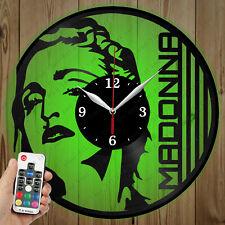 LED Vinyl Clock Madonna LED Wall Art Decor Clock OriginalGift 2704