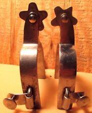 Vintage CROCKETT RENALDE (CR) Heavy Duty Stainless Steel Ladies Western Spurs