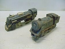 2 Old Vintage Tin Train Engine Battery Operated Friction Alps