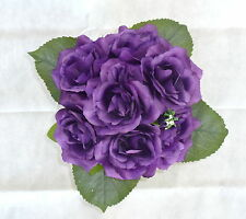 Rosenstrauß /  Seidenblumen - Blumenstrauß violett