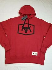 Under Armour UA Men's Project Rock Warm Up Hoodie Iron Will Red  Size Large NWT