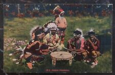 Mint USA PPC Picture Postcard Native American Indian Drummers