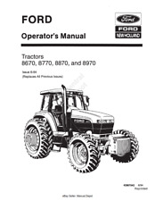 NEW HOLLAND 8670 8770 8870 8970 OPERATOR MANUAL REPRINTED - ISSUE 6-94