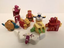 Vtg McDONALD'S HAPPY MEAL Lot 8 CHANGEABLES TRANSFORMERS ROBOTS & DINOSAURS 1990