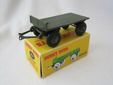 VINTAGE DINKY No.25g, SCARCE PRE WAR FLAT BED TRAILER WITH REPRODUCTION BOX.