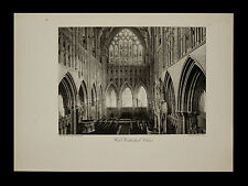 Wells Cathedral, Choir Interior View 1886 ORIGINAL Photogravure