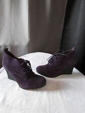 chaussures compensées andré daim aubergine 39