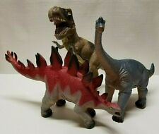Set of 3 Toy Dinosaur Figures - Stegosaurus, T-Rex, Brachiosaurus (2011, 2014)