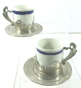 Weidmann Porzellan - Italian Demitasse Coffee Cup and Saucer (2 Sets)  Espresso