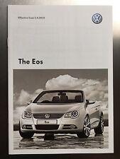 VW EOS prezzi BROCHURE – VOLKSWAGEN EOS