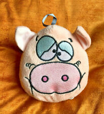 mega bowl vintage fur plush pig head toy 1990s battery op oinking collectable