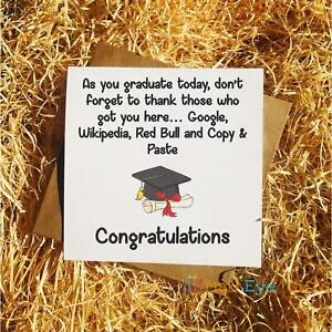 Graduation Funny Greetings Card Exams Congratulations Thank Those Who Got You