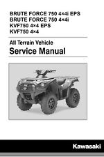 Kawasaki 2012 2013 2014 2015 Brute Force 750 4x4i KVF750 service manual on CD