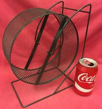 "EX SAFETY MESH Metal Rat Exercise Wheel MASSIVE 9"" Stand Silent Hamster Gerbils"