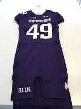 Game Worn Used Northwestern Wildcats Football Jersey #49 Size 40
