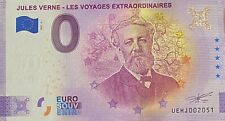 BILLET 0  EURO JULES VERNE ANNIVERSARY FRANCE   2021  NUMERO DIVERS