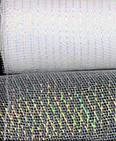 White Iridescent Metallic Mesh Craft Ribbon 63mm Wide 1 x 2m Length Gift Wrap