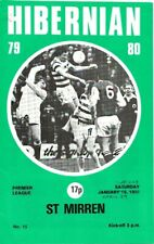 More details for hibernian v st mirren 1980 postponed fixture with george best listed as playing