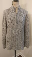 liz clairborne heavy cable knit  sweater with Zipper neck mock t neck size  XL