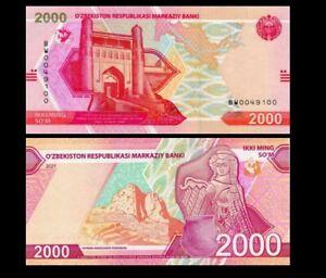 UZBEKISTAN 2000 SUM 2021 YEAR P NEW UNC