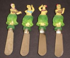 Hula Girls Pate Butter Knives Aloha Tiki Handles Set of 4 Boston Warehouse