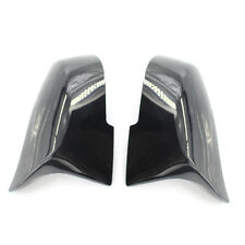 2X Gloss Black Mirror Cover Fit for BMW F30 F32 Quality USA Ship