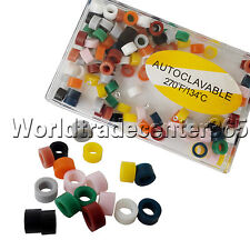 Dental Silicone Instrument Color CODE RING Band autoclavable Small Asstd 240PCS