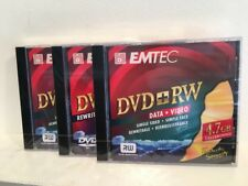 EMTEC DVD + RW Data And Video Rewritable 4.7 GB Blank, Sealed, Lot Of 3